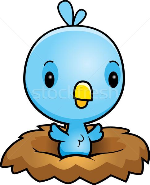 漫画 青 鳥の巣 実例 赤ちゃん 鳥 ストックフォト © cthoman