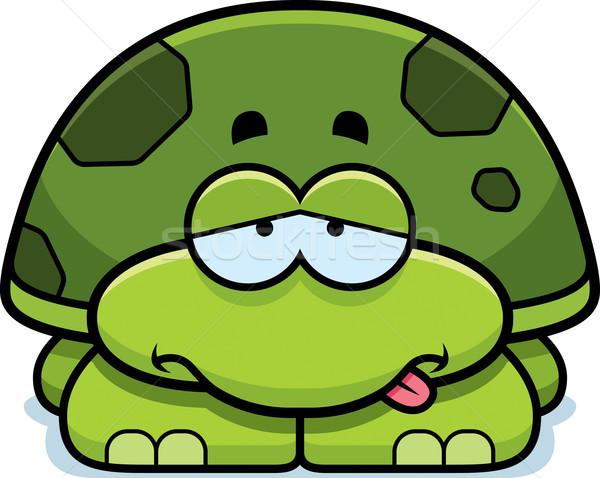 Sick Little Turtle Stock photo © cthoman