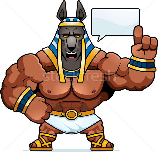 Cartoon Anubis Talking Stock photo © cthoman
