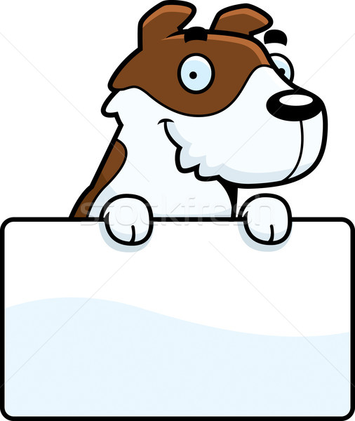 Cartoon Jack Russell Terrier Sign Stock photo © cthoman