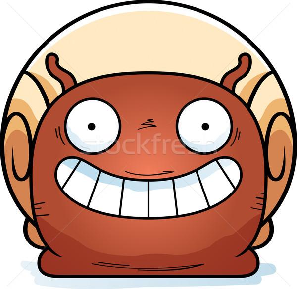 Glücklich wenig Schnecke Karikatur Illustration schauen Stock foto © cthoman