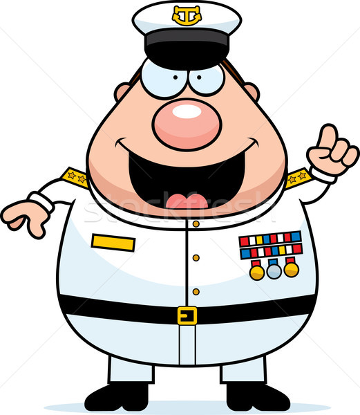 Cartoon Navy Admiral Idea Stock photo © cthoman