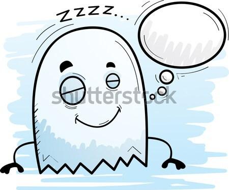 Cartoon fantasma feliz sonriendo Foto stock © cthoman