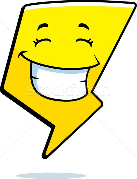 Villám mosolyog rajz boldog elektromosság Stock fotó © cthoman