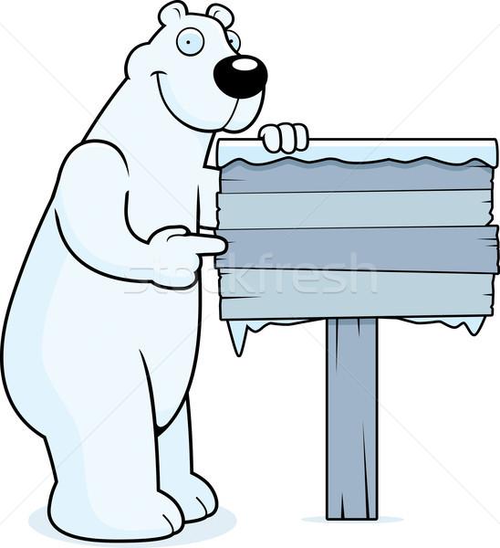 Polar Bear Sign Stock photo © cthoman