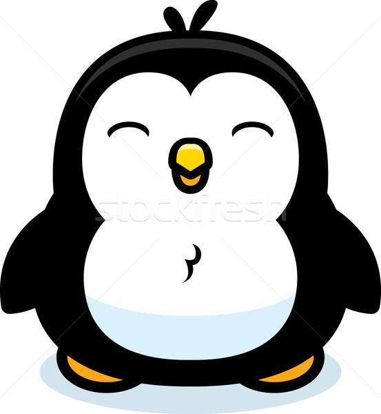 漫画 赤ちゃん ペンギン 立って アップ 鳥 ストックフォト © cthoman