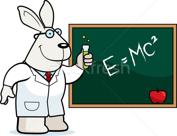 Cartoon coniglio scienziato illustrazione occhiali scienza Foto d'archivio © cthoman