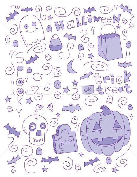 Halloween Doodle Stock photo © cthoman
