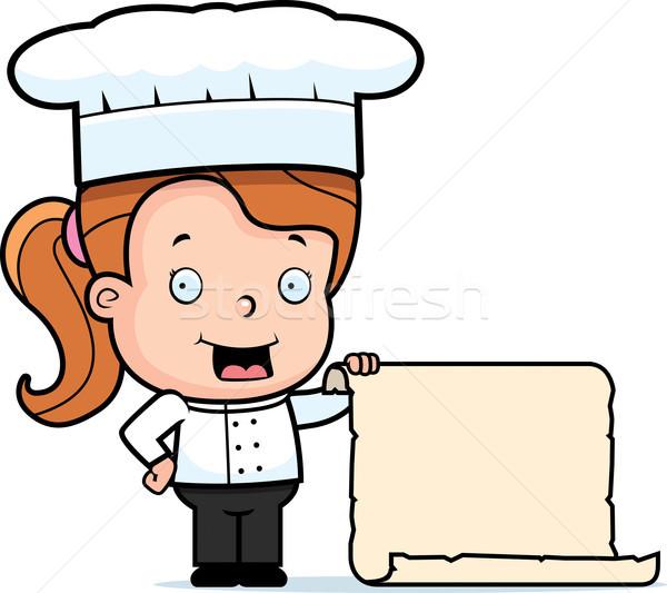 Chef Child Menu Stock photo © cthoman
