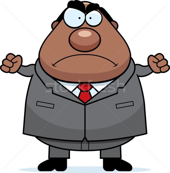 Cartoon Boss Mad Stock photo © cthoman
