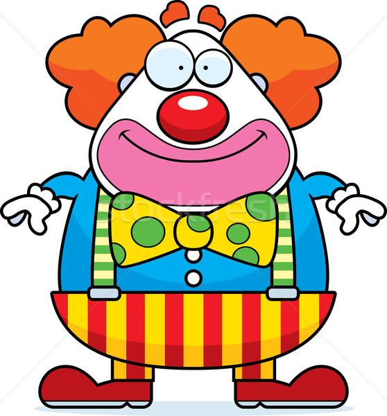Karikatur Clown lächelnd glücklich stehen Party Stock foto © cthoman