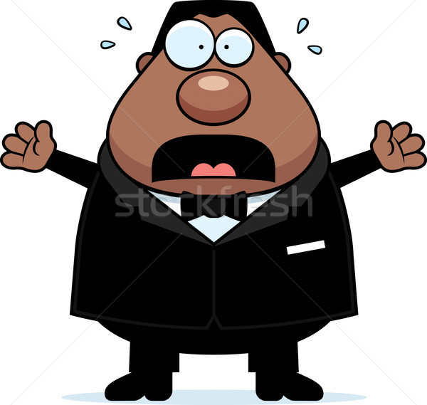 Cartoon Groom Scared Stock photo © cthoman