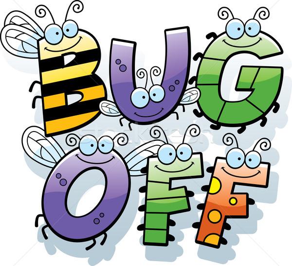 Cartoon bug texte illustration mots Photo stock © cthoman