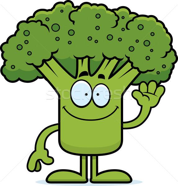 Cartoon broccoli illustrazione pezzo felice Foto d'archivio © cthoman