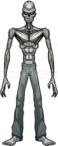 Zło cartoon zombie ilustracja patrząc graficzne Zdjęcia stock © cthoman