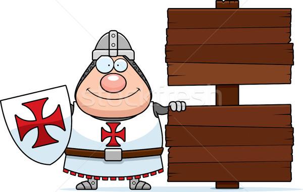 Cartoon Templar Sign Stock photo © cthoman