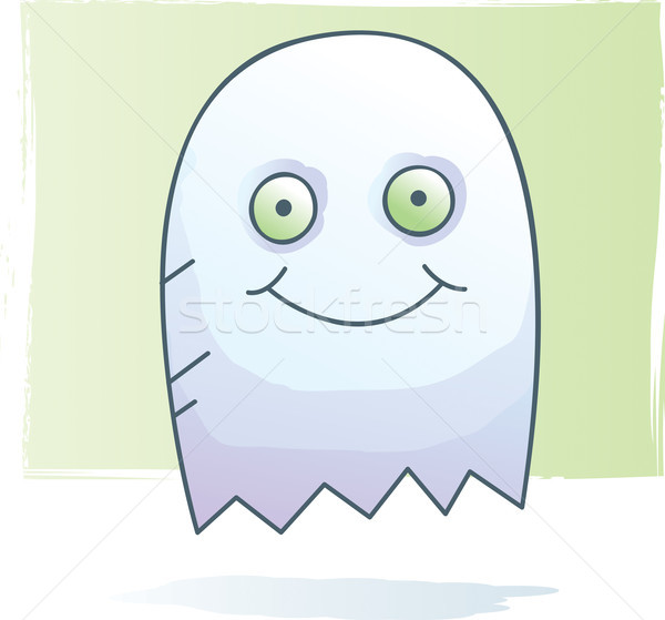 Fantasma acquerello cartoon stile Foto d'archivio © cthoman