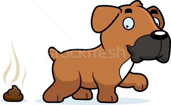 Cartoon bokser illustratie hond geschenk Stockfoto © cthoman