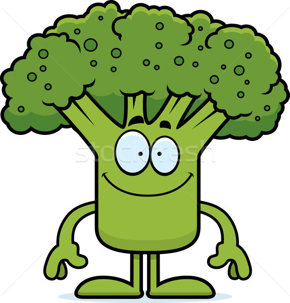 Heureux cartoon brocoli illustration pièce regarder Photo stock © cthoman