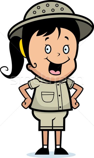 Stockfoto: Ontdekkingsreiziger · glimlachend · gelukkig · cartoon · kind · permanente