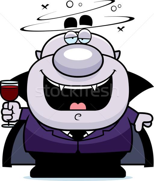Cartoon vampier dronken illustratie bloed man Stockfoto © cthoman