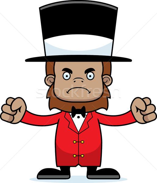 Cartoon Angry Ringmaster Sasquatch Stock photo © cthoman