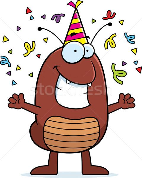 Cartoon Flea Celebrating Stock photo © cthoman