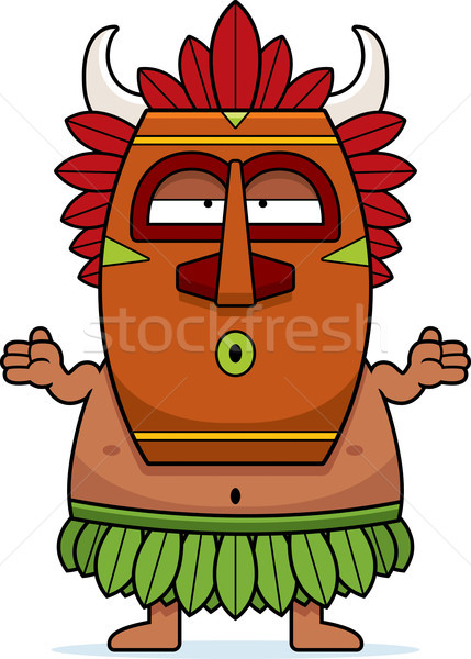 Confused Cartoon Witch Doctor Stock photo © cthoman