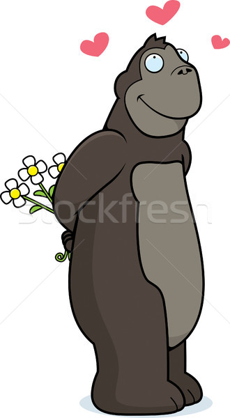 Gorilla Flowers Stock photo © cthoman