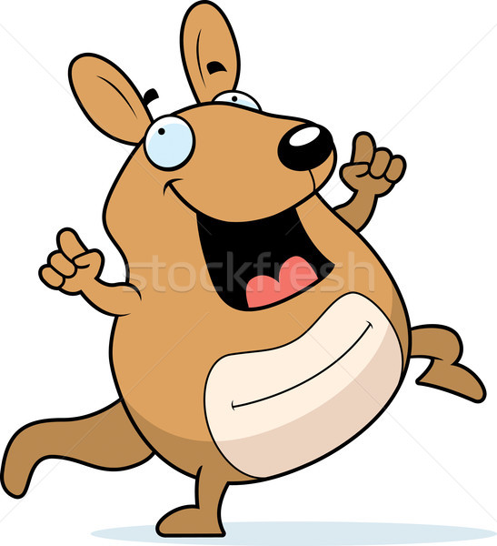 Cartoon Wallaby Dancing Stock photo © cthoman