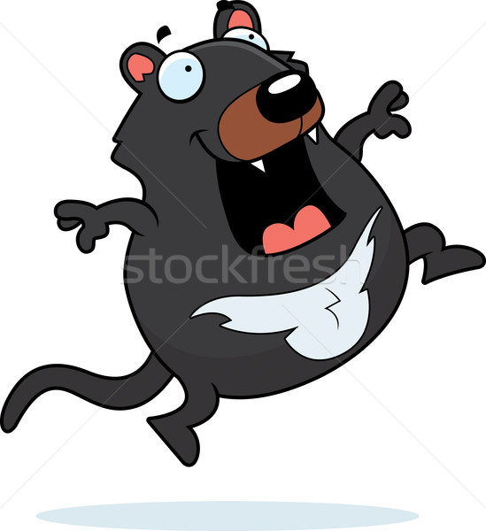 Cartoon Tasmanian Devil Jumping Stock photo © cthoman