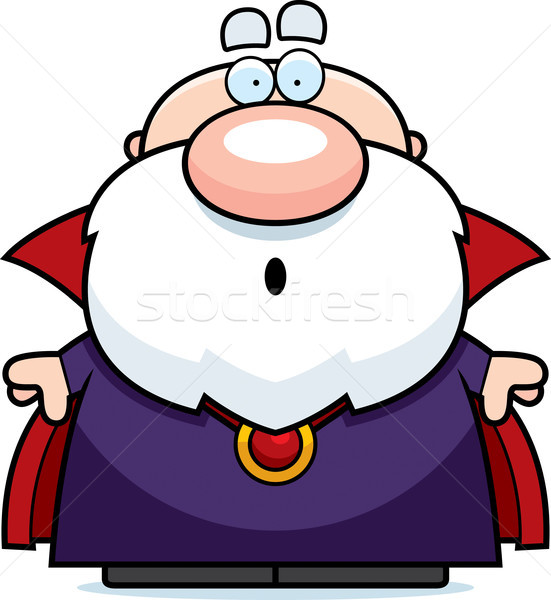 Cartoon Surprised Wizard Stock photo © cthoman