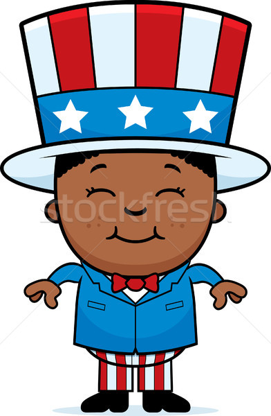 Patriotic Boy Stock photo © cthoman