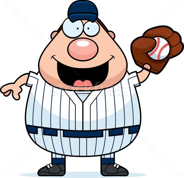 Baseball Player Catching Stock photo © cthoman