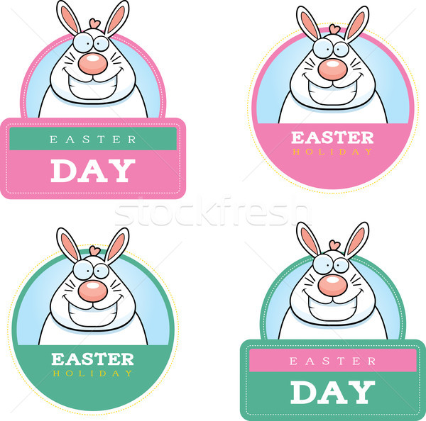 Cartoon Easter Bunny grafische illustratie Pasen Stockfoto © cthoman