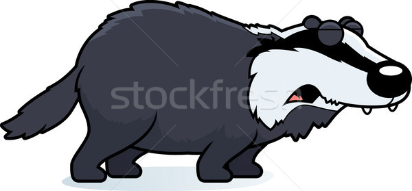 Cartoon Badger Howling Stock photo © cthoman