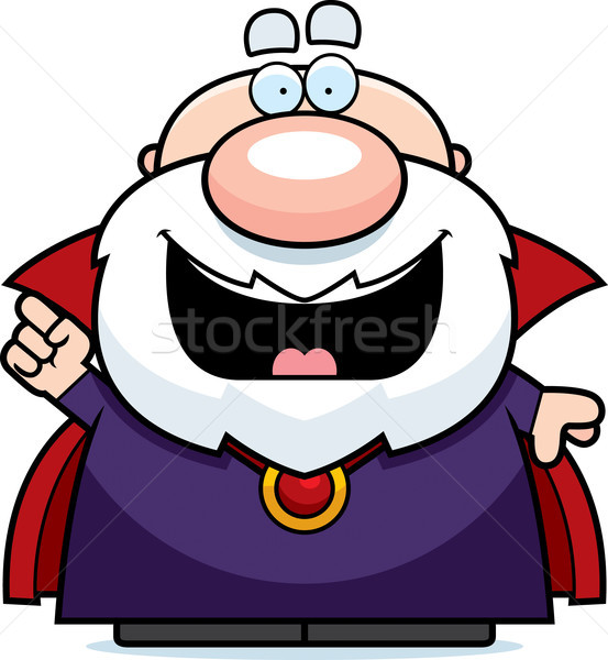 Cartoon Wizard Idea Stock photo © cthoman