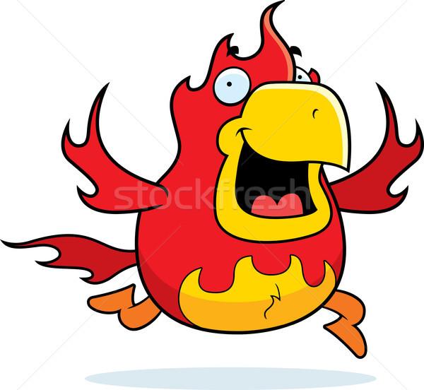 Cartoon Phoenix Running Stock photo © cthoman