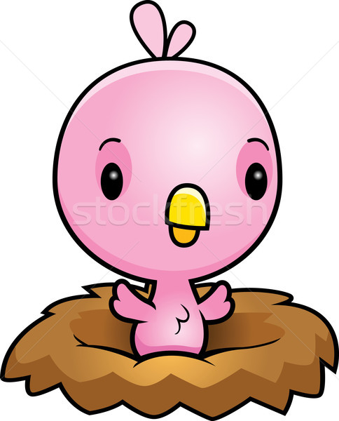 Cartoon Pink Bird Nest Stock photo © cthoman