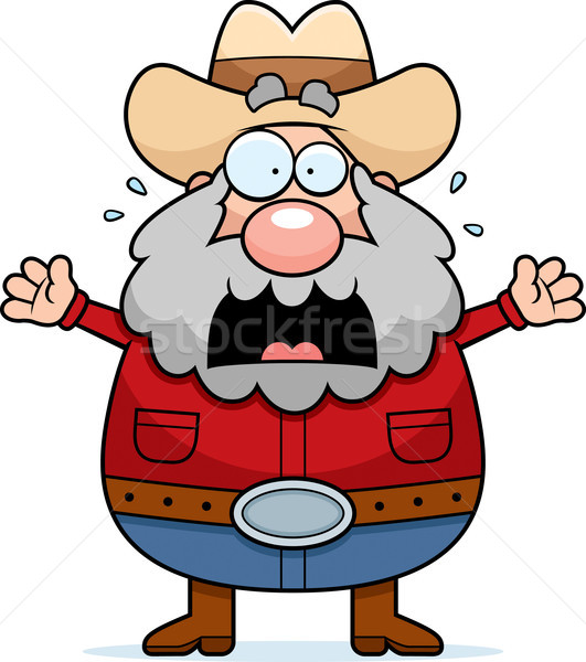 Cartoon Prospector Panicking Stock photo © cthoman