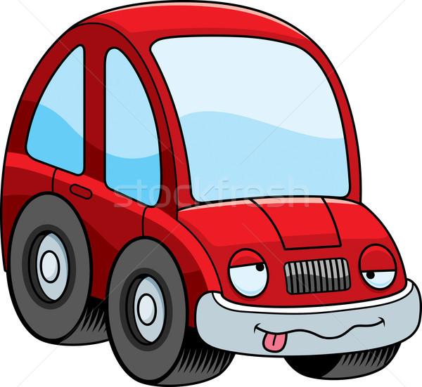 Bêbado desenho animado carro ilustração olhando gráfico Foto stock © cthoman