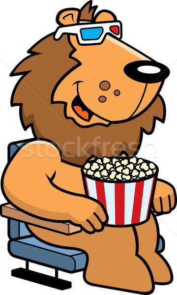 Cartoon лев 3D фильмы иллюстрация смотрят Сток-фото © cthoman