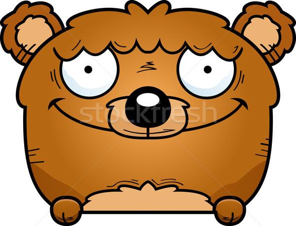 Rajz medve medvebocs illusztráció fiatal állat Stock fotó © cthoman