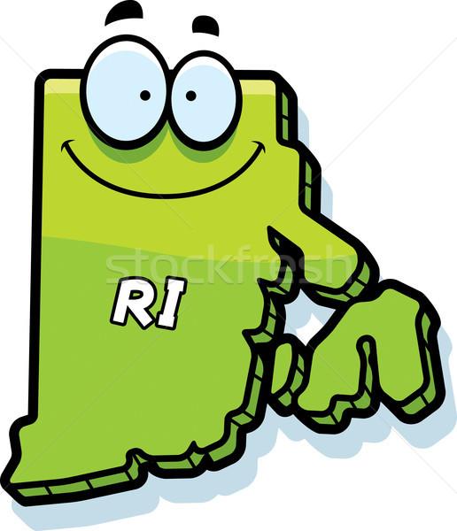 Karikatür Rhode Island örnek gülen grafik Amerika Stok fotoğraf © cthoman