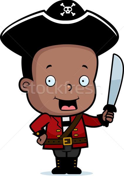 Pirackich dziecko szczęśliwy cartoon miecz Zdjęcia stock © cthoman
