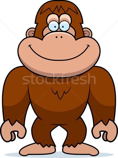 Stock photo: Cartoon Bigfoot