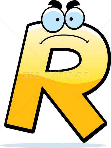 Mérges rajz r betű illusztráció levél arany Stock fotó © cthoman