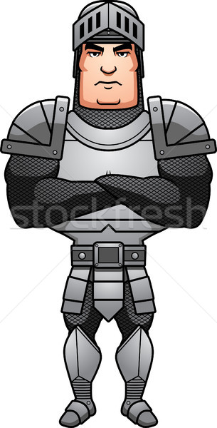 Cartoon Knight Arms Crossed Stock photo © cthoman