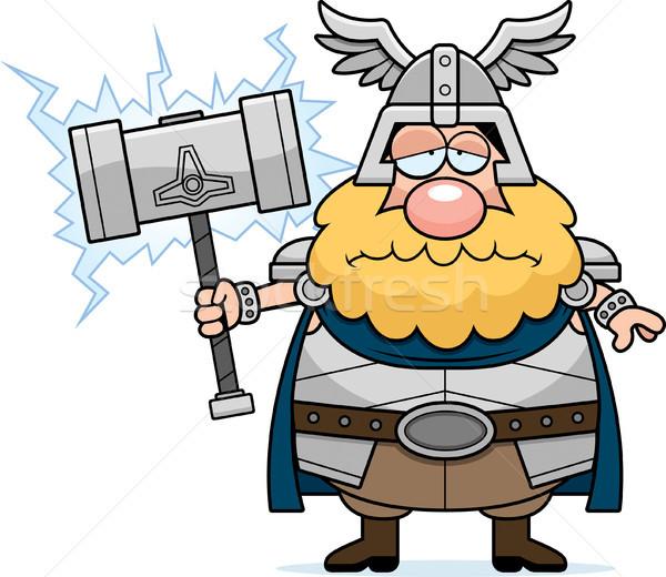 Sad Cartoon Thor Stock photo © cthoman