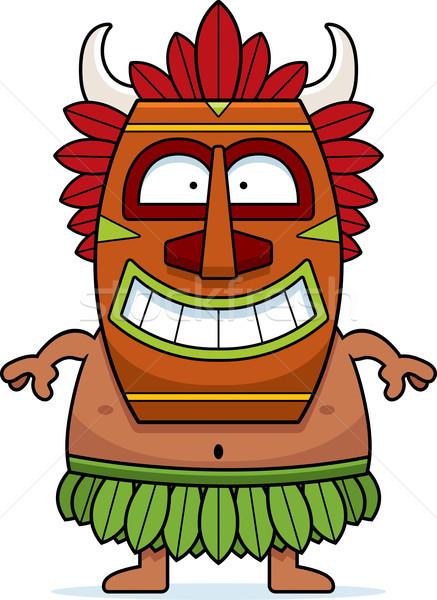 Sorridere cartoon strega medico illustrazione felice Foto d'archivio © cthoman